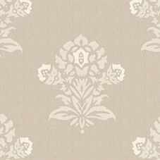 White/Putty Jaipur Fabric Swatch