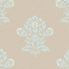 Aqua/Putty Jaipur Fabric Swatch