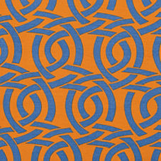 Highland Knot Outdoor Fabric - Saffron