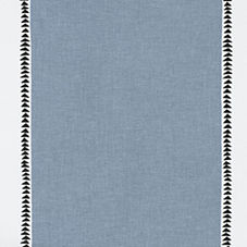 Racing Stripe Fabric Swatch – Chambray