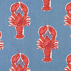 Lobster Outdoor Fabric Swatch – Chambray Blue