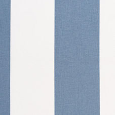 Awning Stripe Fabric Swatch – Chambray