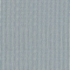 Pinstripe Cotton Fabric Swatch - Indigo
