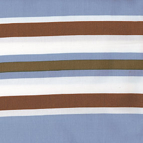 Chambray/Chocolate Beach Stripe - Yardage