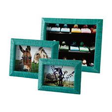 Woven Raffia Frames – Turquoise