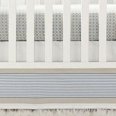 Yacht Stripe Crib Skirt – Chambray