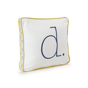 Goldenrod Letter Pillow