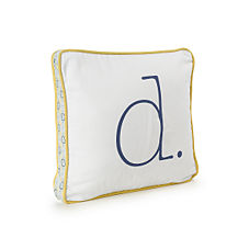 Goldenrod Typewriter Letter Pillow
