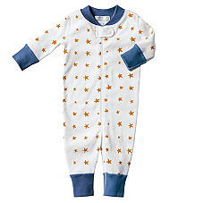 Hanna Andersson Organic Cotton Baby Sleeper - Orange Star