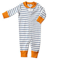 Hanna Andersson Baby Sleeper - Blue Stripe