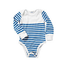 Hanna Andersson Nautical Stripe Bodysuit – Ultramarine