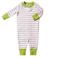 Hanna Andersson Baby Sleeper – Pink Stripe