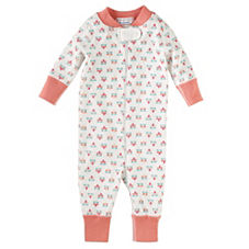 Hanna Andersson Baby Sleeper – Melon Mini Floral
