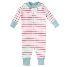 Hanna Andersson Baby Sleeper – Strawberry Stripe