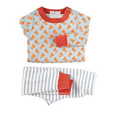 Hanna Andersson Long Johns – Tangerine Sailboat