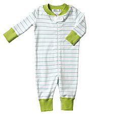 Hanna Andersson Baby Sleeper – Aqua Stripe
