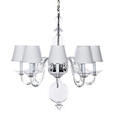 Anya Blown-Glass Chandelier - White Shades