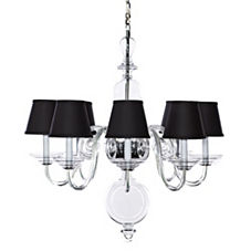 Anya Blown-Glass Chandelier - Black Shades