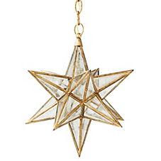 Moravian Star Glass Pendant
