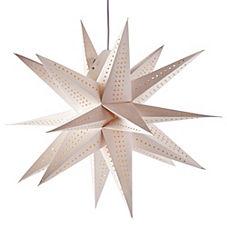 Paper Pendant Light – Moravian Star