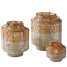 Two-Toned Rattan Lanterns