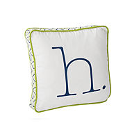 Lime Letter Pillow