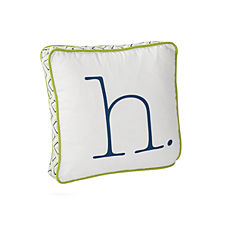 Lime Typewriter Letter Pillow