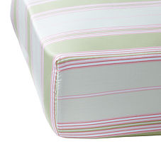 Green/Pink Espadrille Stripe Crib Sheet