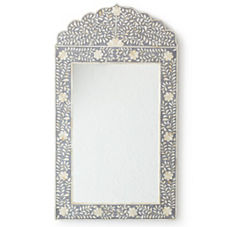 Maya Inlay Mirror - Grey