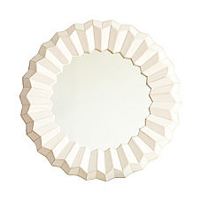 White Mosaic Mirror