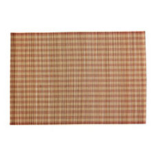Bamboo Stripe Placemats - Tomato Red (Set of 4)