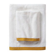 Border Frame Bath Towels – Mustard