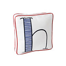 Schoolhouse Letter Pillow – Cobalt/Navy