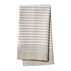 Metallic Stripe Napkins – Bark (Set of 4)