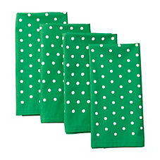 Pin Dot Napkins – Kelly Green (Set of 4)
