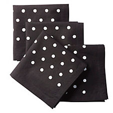 Pin Dot Cocktail Napkins – Black (Set of 4)
