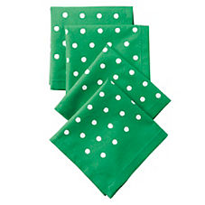 Pin Dot Cocktail Napkins – Kelly Green (Set of 4)