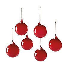 Glass Globes – Garnet (Small, Set of 6)