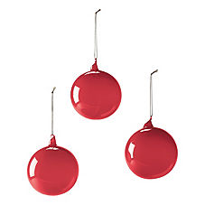 Glass Globes – Garnet (Medium, Set of 3)