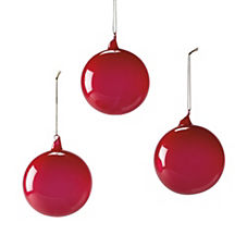 Glass Globes – Magenta (Medium, Set of 3)