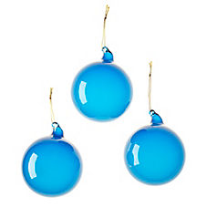 Glass Globes – Ultramarine (Med, S/3)