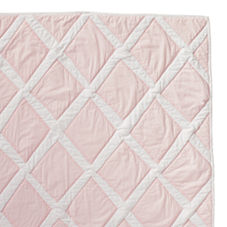 Diamond Quilt & Shams – Pink