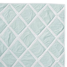 Diamond Quilt & Shams – Aqua