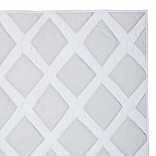 Diamond Quilt & Shams – Light Grey