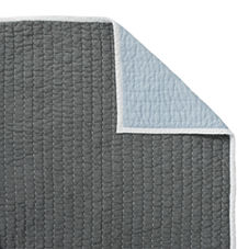 Cabin Quilt & Shams – Slate/Bay Blue