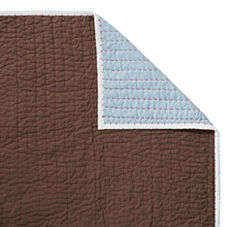 Chocolate/Chambray Cabin Quilt & Shams