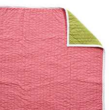 Melon/Lime Cabin Quilt & Shams