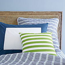 Blair Stripe Quilt & Sham – Chambray Blue