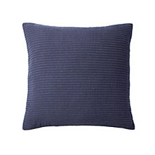 Pickstitch Matelassé Euro Sham – Navy