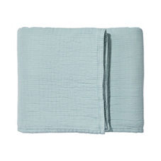 Pickstitch Matelassé Coverlet & Sham – Aqua